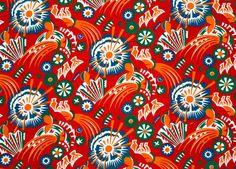 1920s-30s Soviet propaganda print textile