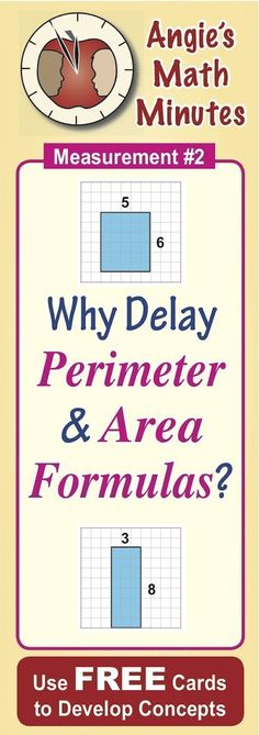Are your students in Grades 3-5 confused by area and perimeter? This blog provides sample questions to ask your students and a link to a FREEBIE set of cards to match. ~by Angie Seltzer