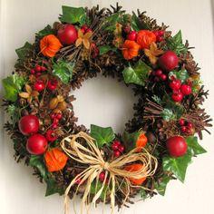 Fall Decor, Holiday Decor, Deco Floral, Ikebana, Floral Arrangements, Advent, Diy And Crafts, Christmas Wreaths, Autumn