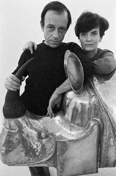 a portrait of sculptors François-Xavier and Claude Lalanne. ~ unusual furniture and art pieces made of bronze, click photo plus look at related pins Francois Xavier, Supreme Art, Claude, Art Of Living, French Artists, Sheep, Sculpting, Contemporary Art, Whimsical