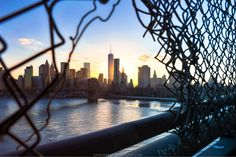 Sunset as seen from the Manhattan Bridge