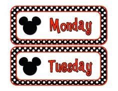 FREE Mouse Days of the Week Cards image 2