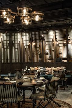 MOTT32 Restaurant, Hong Kong designed by Joyce Wang Studio