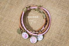 Bransoletka ze zdjęciami LadyBee skórzana Havana #biżuteria #handmade #bizuteriazezdjeciem #biżuteriazezdjęciami #pomysłnaprezent #prezentdlaniej #ladybee #dlakobiet
