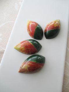 Exotic fruits pralines.