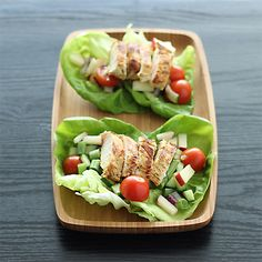 Grilled Island Chicken Lettuce Wraps