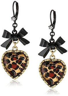Betsey Johnson Womens Euro Leopard Heart Black Bow We appreciate you for having visited our image. (This is an affiliate link) Betsey Johnson Womens Euro Leopard Heart Black Bow We appreciate you for having visited our image. (This is an affiliate link) Heart Shaped Earrings, Bow Earrings, Black Earrings, Betsey Johnson Earrings, Nickel Free Earrings, Black Jewelry, Jewelry Party, Jewelry Collection, Euro