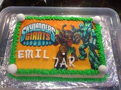 Emils 7 års fødselsdagskage med sukkerprint billede