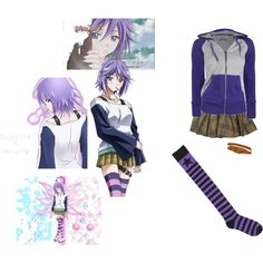 dress like mizore by moonfairycult on Polyvore featuring Full Tilt, KaTang, rosario + vampire, mizore and cosplay
