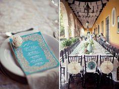 Turquesa para una boda en Hacienda