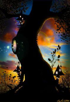 Magic Faery Tree by Liza Lambertini