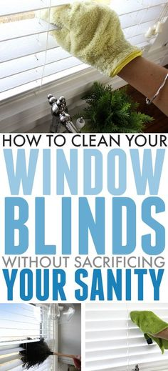 the simple, straightforward way to clean window blinds so you can get that dusty mess under control once and for all!Here's the simple, straightforward way to clean window blinds so you can get that dusty mess under control once and for all! Cleaning Car Windows, Cleaning Blinds, Mattress Cleaning, Car Cleaning, Spring Cleaning, Cleaning Hacks, Deep Cleaning Tips, House Cleaning Tips, Diy Cleaning Products
