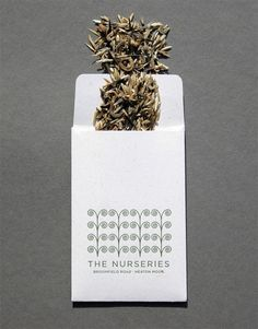 The Nurseries letterpress business card  by United Creatives for Patrick Seed