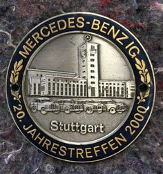 Vintage-2000-Stuttgart-German-Grille-badge-BMW-Audi-Mercedes-Benz