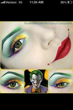 Joker style make up:)