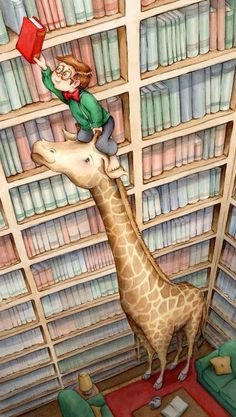 the giraffe is useful in the library