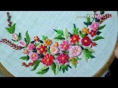 181-Flowers from basic embroidery stitches(Hindi /Urdu) - YouTube