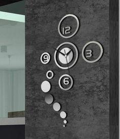 Attractive DIY decorative art wall clock Fine Gift for All Wihte Silver