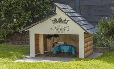 amazing garage for the husqvarna auto mower here 39 s how to build it. Black Bedroom Furniture Sets. Home Design Ideas