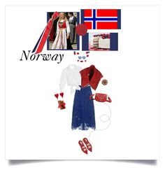 """May 17 National Norway Day Celebration"" by onesweetthing ❤ liked on Polyvore featuring nanimarquina, Sea, New York, Johanna Ortiz, Alaïa, Marc Jacobs, Hot Topic and Prada"