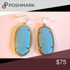 NEW Kendra Scott Turquoise Danielle Earrings NEW Kendra Scott Turquoise Danielle Earrings NEW Kendra Scott Turquoise Danielle Earrings These are brand spanking new without tags. Received as gift so the tags are missing but absolutely guaranteed genuine and never worn because I do not have pierced ears All of my items are Guaranteed 100% Genuine I do not sell FAKES of any kind! No Trade (S077) Kendra Scott Jewelry