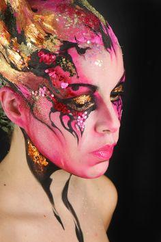 Stick art studio school #makeup#facepaint