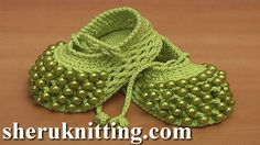 Crochet Baby Shoes with Beads Part 1: http://sheruknitting.com/sherufashion/clothes-for-kids/item/810-how-to-crochet-beaded-baby-shoes-tutorial-81-part-1-of-2.html Part 2: http://sheruknitting.com/sherufashion/clothes-for-kids/item/812-crochet-beaded-baby-booties-tutorial-81-part-2-of-2.html In this crochet video tutorial we'll show you how to crochet beaded baby shoes.