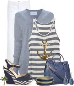 """Anchor Top"" by cindycook10 on Polyvore"