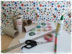 Bricolage en rouleaux de papier toilette #5 : un calendrier de l'avent |La cour des petits Toothbrush Holder, Craft Supplies
