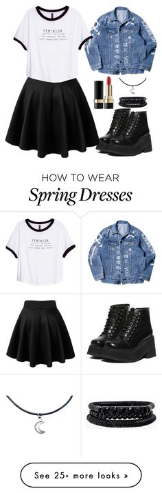 """""""My world is unaffected, there is an exit here I say it is and then it's true."""" by siennabrown on Polyvore featuring Dolce&Gabbana, H&M, Spring Street, Punk, rock, grunge and alternative"""