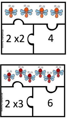 Jogo da multiplicação com encaixe. - Atividades Adriana