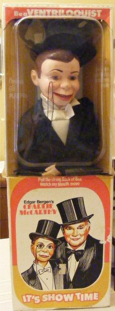 GOLDBERGER: 1960 Charlie McCarthy Ventriloquist Doll #Vintage #Toys