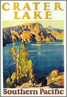 Crater Lake ~ Oregon _______________________________ Southern Pacific Railroad