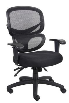 Boss Office Products B6338 Boss Multi-Function Mesh Task Chair