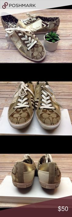 Nearly new Coach sneakers Nearly new canvas sneakers...super cute! COACH Shoes Sneakers