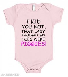 Funny Embroidered Personalised Bib Baby Shower Gift They though i was a good ide