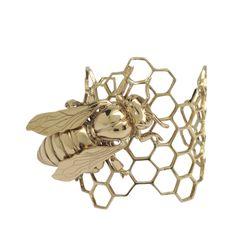 Bernard Delettrez - Manchette abeille en bronze