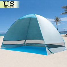 Pop Up Portable Beach Canopy Sun Shade Shelter Outdoor C&ing Fishing Tent 190T & Coleman Beach Shade Tent | Beach shade tent Shade tent and Beach ...