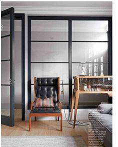Crittall-Style Interior Timber Windows by Minale + Mann Living Room Bar, Living Etc, Living Rooms, Interior Windows, Room Interior, Interior Design, Timber Windows, House Windows, Kitchen Windows