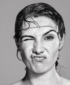 """BY MARC DE GROOT Portrait of Carice van Houten as showcased in the anniversary exhibition """"Faces from the Glossies"""". Silly Faces, Funny Faces, Prettiest Actresses, Facial Expressions, Actor Model, Photoshoot Inspiration, Girl Face, Powerful Women, Star Fashion"""