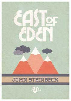 Poster John Steinbeck's East of Eden by EmKayCustomDesigns #etsy #poster #johnsteinbeck #books