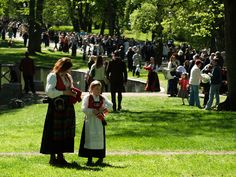 May is the National Day of Norway, when many people wear their national costumes. Norway National Day, May 17, Oslo, Costumes, People, Dress Up Clothes, Fancy Dress, People Illustration, Men's Costumes