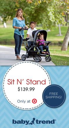 The Baby Trend Sit N Stand Stroller is perfect for the growing family!