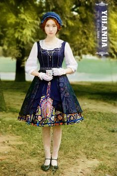 --> New Release: Yolanda ~Jewel Peacock~ Vintage Lolita JSK --> 16% OFF during the pre-order --> Learn More: http://www.my-lolita-dress.com/yolanda-jewel-peacock-vintage-lolita-jumper-dress-yo-35