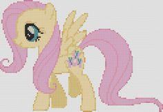 My Little Pony Inspired Pattern Fluttershy por StitchedPixels
