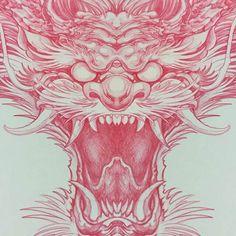 Dragon Tattoo Drawing, Dragon Head Tattoo, Dragon Sleeve Tattoos, Dragon Tattoo Designs, Chinese Dragon Art, Japanese Dragon Tattoos, Japanese Tattoo Art, Japanese Art, Traditional Japanese Dragon