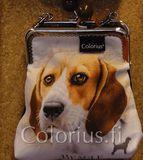 P1007 beagle koira koiralaukku kehyslaukku colorius
