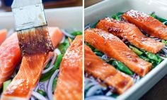 Ovnsbakt laks med hoisinsaus | EXTRA Tuna, Fish, Meat, Ethnic Recipes, Pisces, Atlantic Bluefin Tuna