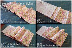 free pattern: Accordion wallet/ coupon holder; closed base, looks like through scant seam