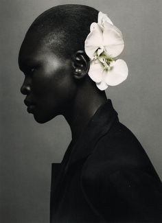 Alek Wek by Sølve Sundsbø for i-D Magazine